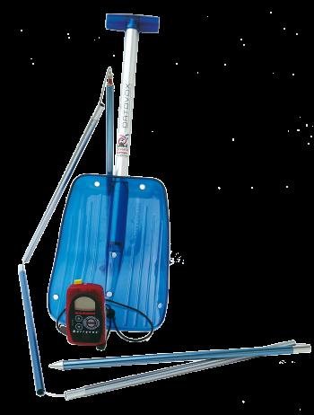 Pelle, émetteur-récepteur et sonde sont les compagnons indispensables du montagnard en hiver.