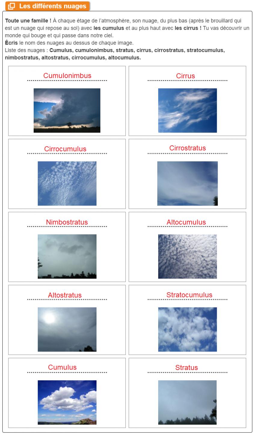 Correction sur toutes les sortes de nuage