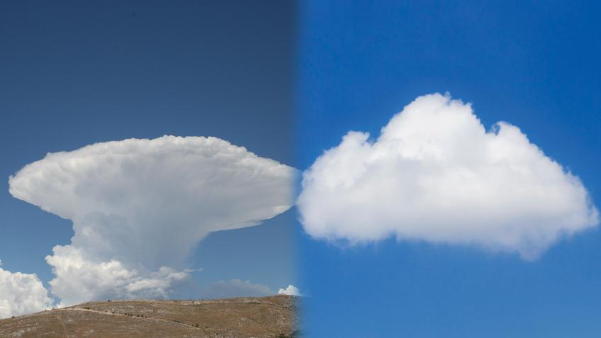 Cumulus contre cumulonimbus