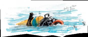 Plongeur du film la face cachée du poisson-lune