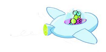 Soucoupe volante dans l'eau
