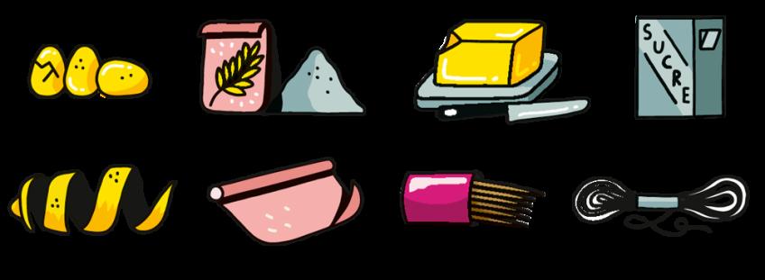 Ingrédients pour sablés en guirlande