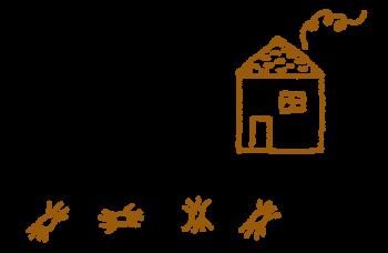 Araignée en cocon comme dans une maison