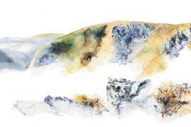 Le Hohneck depuis les Trois Fours150 x 50 cm / © Ji Young Demol Park