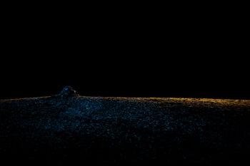 «Une crête du Luberon, au cours d'un séjour de huit jours dans une cabane de berger, au mois d'avril.»