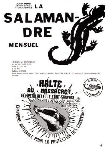 Couverture de La Salamandre n°22