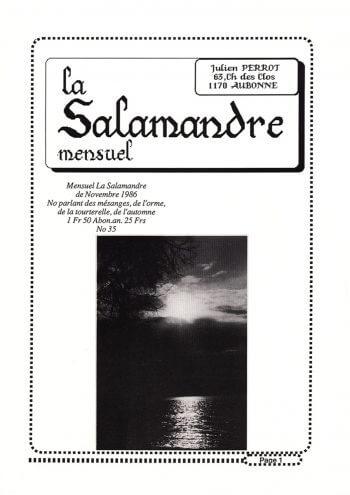 Couverture de La Salamandre n°35
