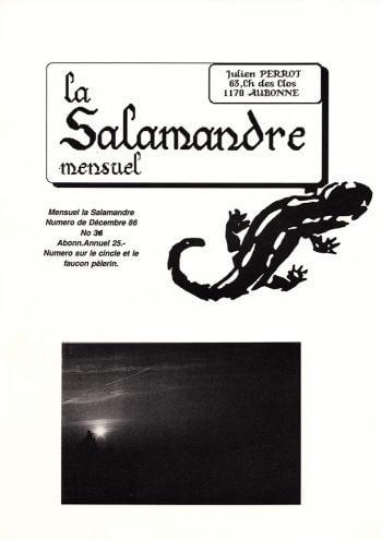 Couverture de La Salamandre n°36
