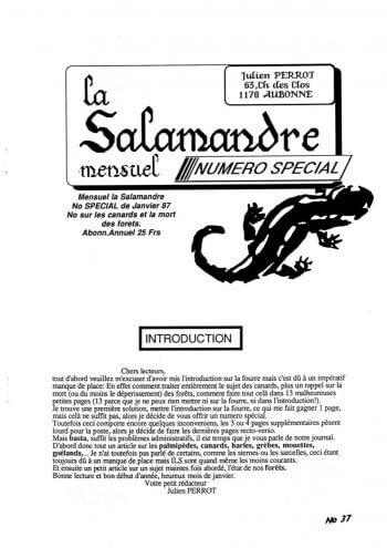 Couverture de La Salamandre n°37