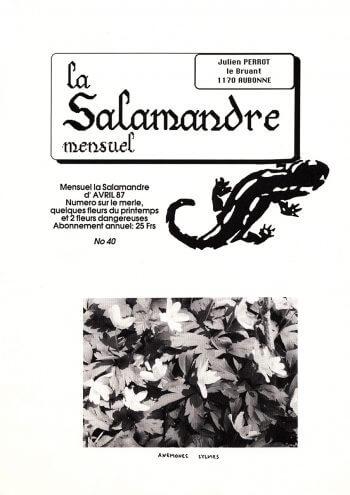 Couverture de La Salamandre n°40