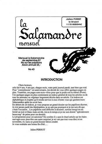 Couverture de La Salamandre n°43