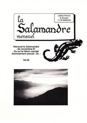 Couverture de La Salamandre n°45