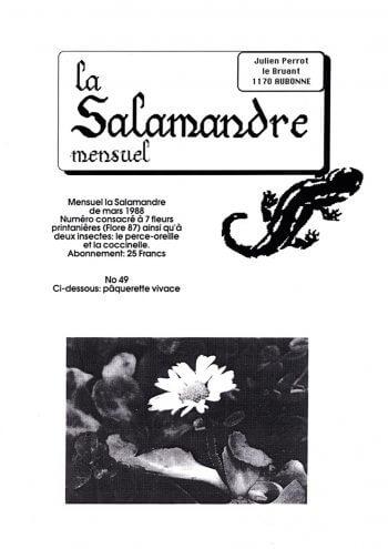Couverture de La Salamandre n°49