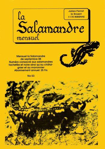 Couverture de La Salamandre n°53