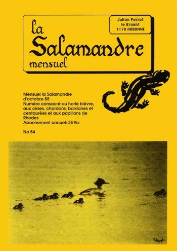 Couverture de La Salamandre n°54