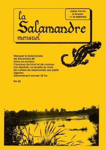 Couverture de La Salamandre n°56