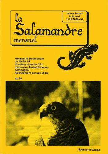 Couverture de La Salamandre n°58