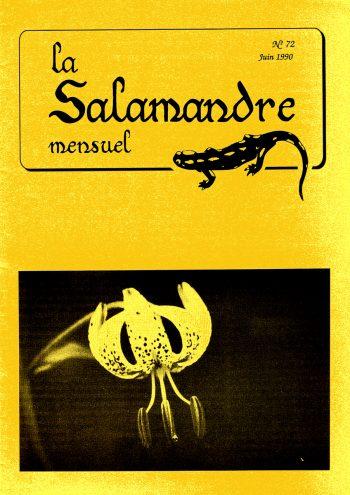 Couverture de La Salamandre n°72