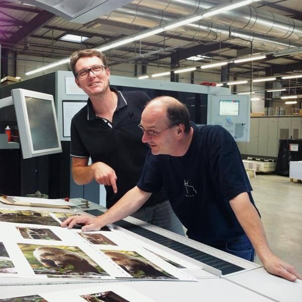 Jean-Luc Wisard, graphiste de La Salamandre et Jacques Loset, auteur et photographe naturaliste