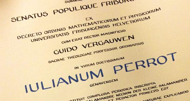 Julien Perrot Docteur honoris causa