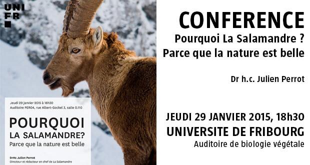 Conférence à l'université de Fribourg jeudi 29 janvier 2015